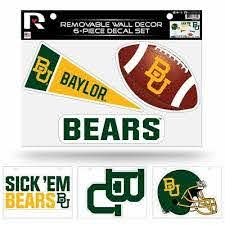 Baylor Bears Ncaa Set Of 6 Removable Wall Decal Stickers Ebay