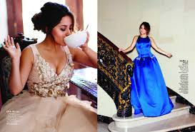 becky g tries on prom dresses for