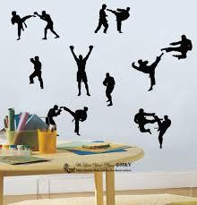 Martial Arts Boxing Judo Karate Kids Room Decor Wall Art Stickers Vinyl Decal Ebay