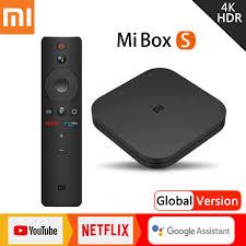 Hot Price #990dfe - Xiaomi Mi TV Box S Global Version Mijia 4K HDR Android  TV Streaming Media Player Google Assistant Remote Smart Mi TV Stick Tvbox