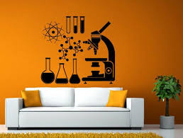 School Microscope Science Scientist Chemical Chemistry Atom Etsy In 2020 Window Stickers Bamboo Restaurant Mural