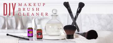 diy makeup brush cleaner young living