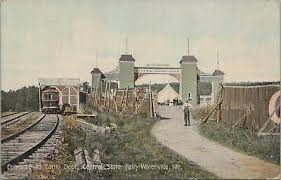 ENTRANCE TO CENTRAL Maine Fair Waterville ~ c1910 to MYRA PARKER Augusta ME  - $2.25 | PicClick