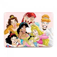 Funny Disney Princesses Macbook Skin Decal