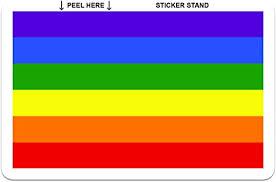 Amazon Com Gay Pride Rainbow Flag Car Bumper Sticker Decal 5 X 4 Automotive