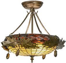 bulb semi flush mount ceiling light