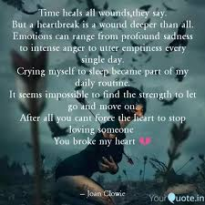 time heals all wounds the quotes writings by joan clowie n