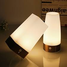 Led Table Lamp Battery Powered Retro Wireless Motion Sensor Night Light Sensitive Portable Moving Warm White For Kids Room Hallway Wish