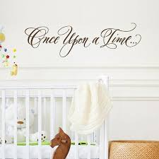 Once Upon A Time Wall Decal Nursery Wall Decor Girl S Etsy Nursery Wall Decor Girl Nursery Wall Decals Girls Room Wall Decor