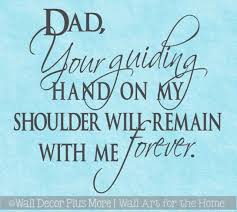 Wall Stickers Dad Guiding Hand Forever Father Quote Vinyl Letter Decals