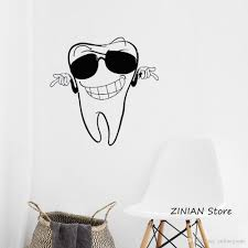 Wall Decals For Dental Clinic Smiling Tooth Decal Vinyl Sticker Home Decor Baby Nursery Bedroom Window Stickers Bathroom Wall Wear Removable Stickers Wall Word Art From Onlinegame 8 06 Dhgate Com