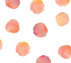 Coral Watercolor Dots Wall Decal Pottery Barn