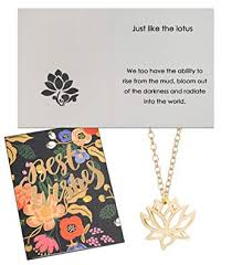 chaomingzhen origami lotus flower pendant necklace gold tone best