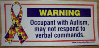 Free Warning Occupant With Autism May Not Respond To Verbal Commands Window Or Car Decal Other Home Gardening Items Listia Com Auctions For Free Stuff