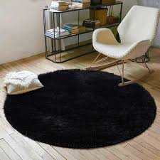 Yoh Super Soft Round Area Rugs For Bedroom Kids Rooms Living Room Playroom Fluffy Boys Girls Baby In 2020 Living Room Playroom Black Rug Bedroom Rug