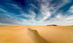 صحراء خلفية رمل كثبان مائج سماء عالية الدقة عريضة عالية
