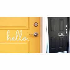 Hello Goodbye Vinyl Door Decals Jane