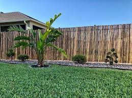Cali Bamboo Fencing 6ft X 6ft Carbonized 1 Inch Diameter Cali