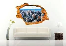 New York City View 3d Wall Decal Removable Vinyl Sticker Mural Wall Art Decor Ebay