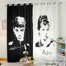 Custom Made 2x Window Drapery Curtain Nursery Kids Children Room Window Dressing Tulle 200x260cm Black White Drapes Curtain Room Windowcustom Made Aliexpress