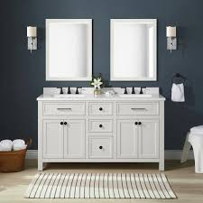 Martha Stewart Living Oakland 60 In Bath Vanity In White Picket Fence With Cultured Marble Vanity Top In White With White Basins 15vva Oakl60 07 The Home Depot