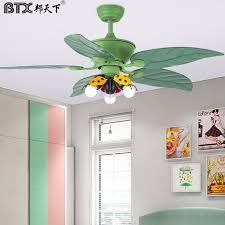 Btx 48 Inch Nordic Contracted Children Room Ceiling Fan Lamp Bedroom Boy Girl Cartoon Quiet Fan Lamp Ceiling Fans Aliexpress