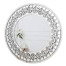 wall mirror large starburst crystal