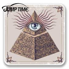 Jump Time For All Seeing Eye Of Providence Vinyl Sticker Mason Freemason Gift Decal Rear Windshield Waterproof Car Accessories Car Stickers Aliexpress