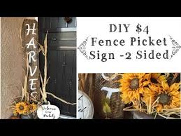 Diy Fall Porch Sign Fence Picket Sign Tutorial Youtube