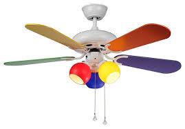 multi colored ceiling fan lighting