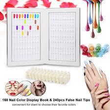 160 nail color display book with false