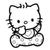 Kleurplaat Hello Kitty 2356 Hello Kitty Colouring Pages Hello