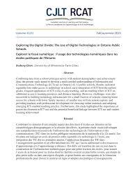 pdf exploring the digital divide the