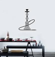 Ruki Hookah Shisha Bar Smoking Room Arabic Style Wall Decal Vinyl Sticker Art Room Decor 22 5 X 27 Wish