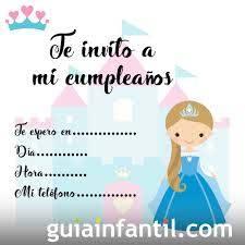 Tarjetas De Invitacion De Cumpleanos Infantiles Con Princesas