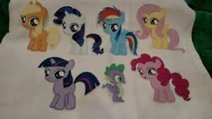 My Little Pony 7 Wall Decals New Applejack Rarity Rainbow Dash Fluttershy Ebay