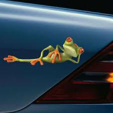 Car Sticker Auto Decal 3d Green Lying Frog Wall Truck Window Vinyl Sticker Funny Ebay