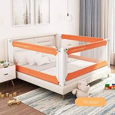 Amazon Com Bed Rails Lha Child Safety Bed Fence Vertical Lift Bed Guardrail Safety Fence Suitable For Infant Baby Height Adjustable 3 Sides Size Optional Child Double Ded Home Kitchen