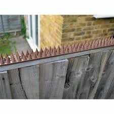 Amtech Pest Security Intruder Prickle Spikes Fence Wall Deterrent Brown S1606