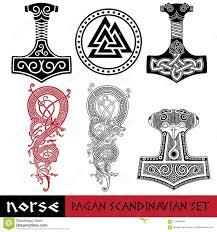 Skandynawski Poganski Set Mjollnir Odin Znak I Swiatowy Smok