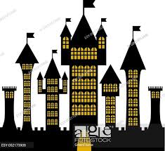 Isolated Vector Ancient Gothic Castle Black Silhouette Stock Vector Vector And Low Budget Royalty Free Image Pic Esy 052173908 Agefotostock