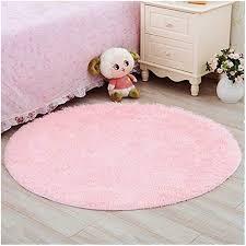 Ultra Soft Round Fluffy Pink Area Rugs Kid Room Carpet Girls Bedroom Rug Pink Girl Room Decor