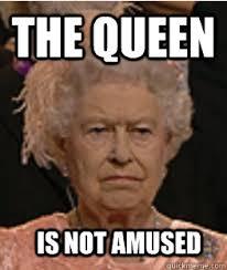 Image result for queen elizabeth not amused