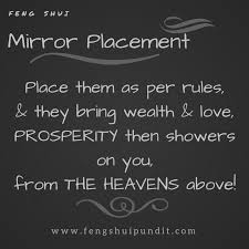 feng shui mirror placement how to do