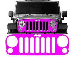 Jeep Wrangler Jk Grille Vinyl Overlay Decal Jeep Wrangler Decals
