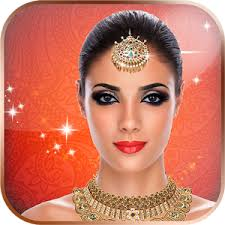 bridal photo makeup jewellery for