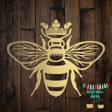 Queen Bee Decal Queen B Decal Queen Bee Vinyl Sticker Etsy Bee Decals Bee Sticker Queen Bees