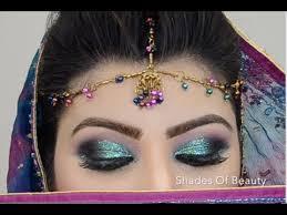 sea green glitter makeup tutorial in