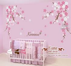 Nursery Wall Decal Baby Girl And Name By Cuma Wall Decals On Zibbet