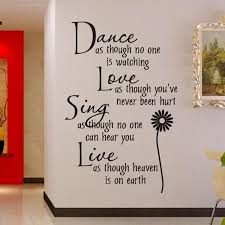 Home Decoration Dance Love Sing Live Wall Sticker Quotes Decals Removable Stickers Vinyl Art Stickers Wall Sticker Wall Sticker Quotesstickers Quotes Aliexpress